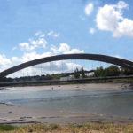 Le pont sur le Jaudy à Trédarzec